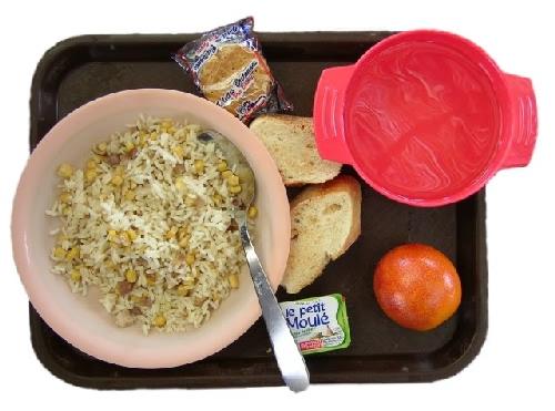 Essen food Mais mit Reis und Speck Kekse Taize